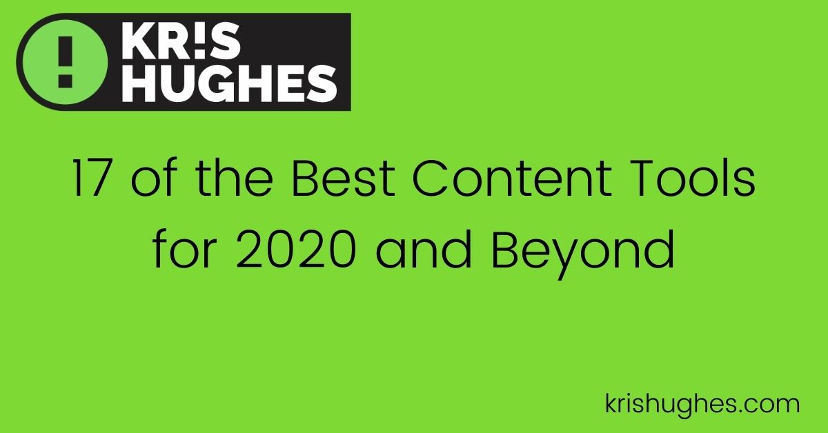 Featured article on best content tools for 2020 and beyond.